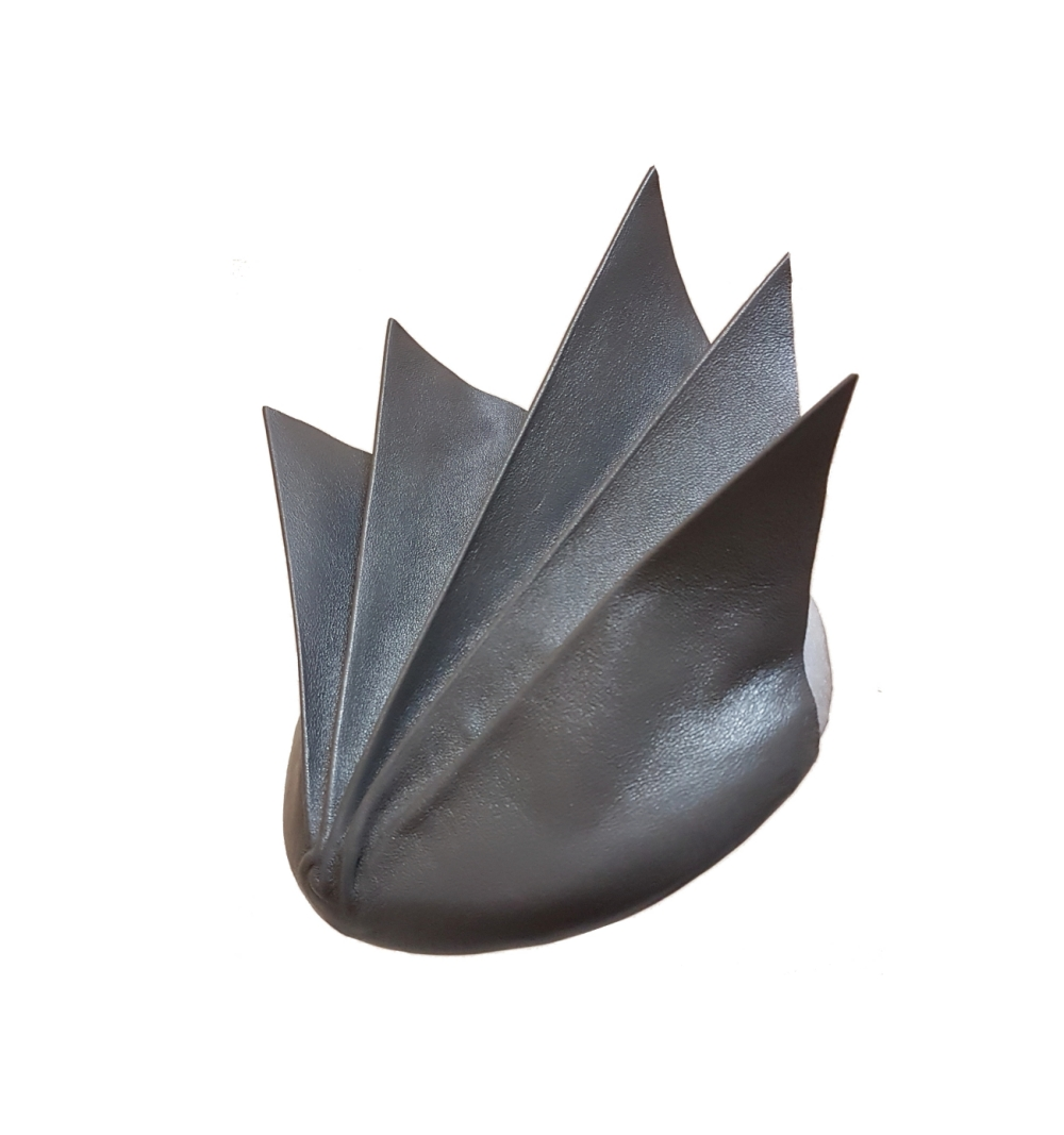Grey leather star shaped cocktail hat