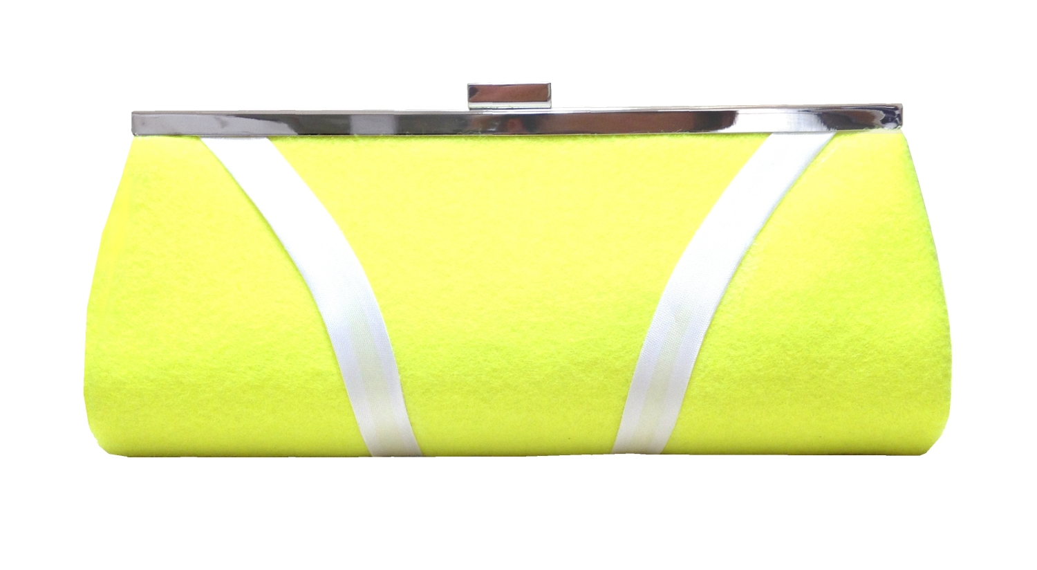 Fluorescent yellow tennis theme clutch bag