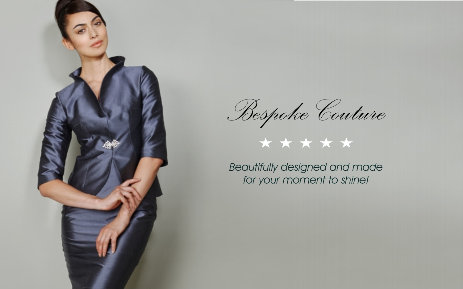Ladies bespoke couture occasion wear and Mother of the Bride outfits