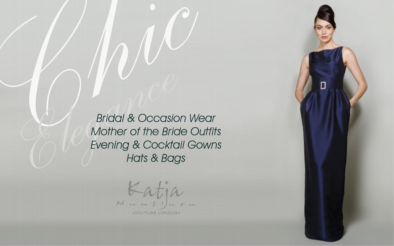 Ladies bespoke couture designer evening gowns adn cocktail wear