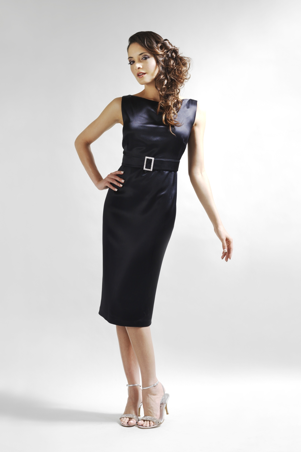 Little Black Dress in silk crepe satin